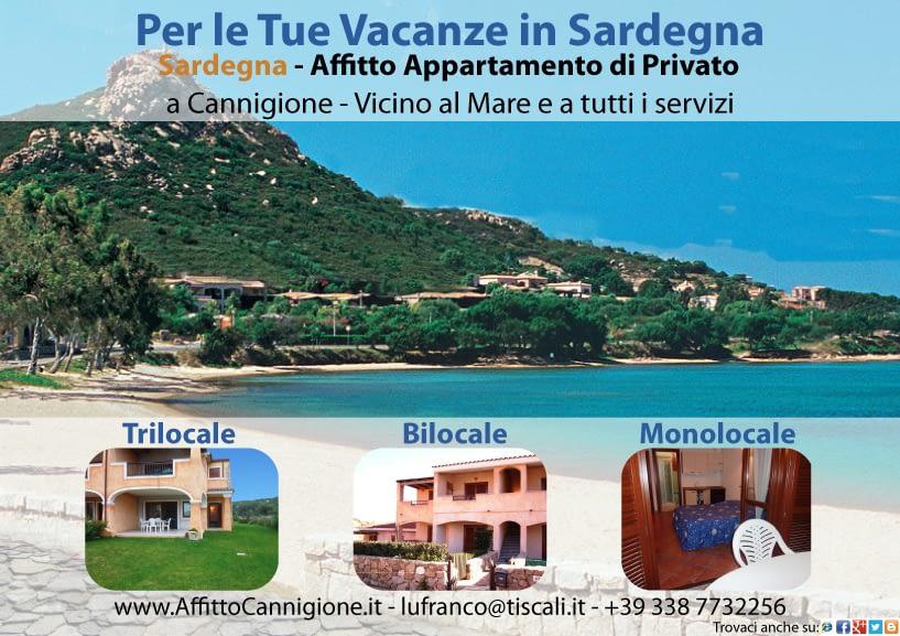 Affitto a Cannigione in Sardegna (Bilocale - Trilocale)